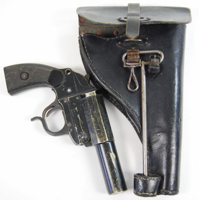 Pistola de Señales con Funda y Bengala